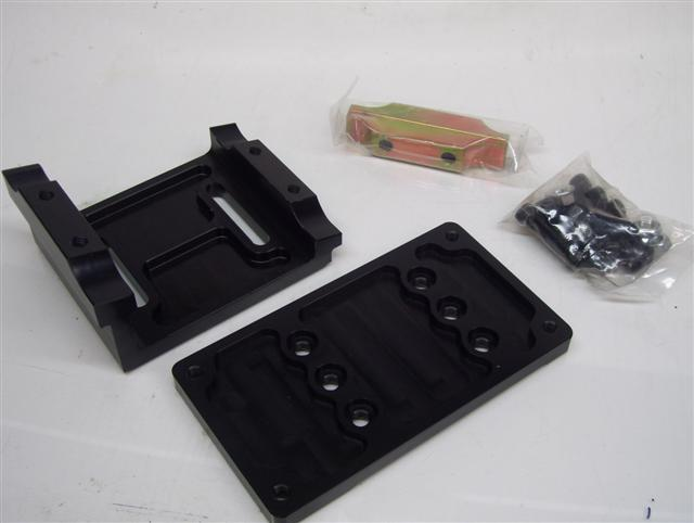 Motor Mount 15° Black anodized, adjustable